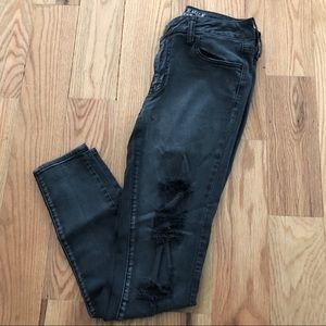 AMERICAN Eagle Distressed Black Washed Jeans